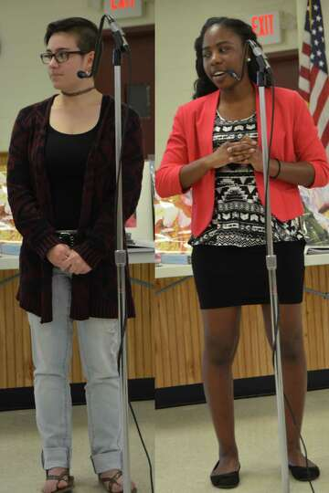 The Colonie Art League provided art scholarships to two students in the North and South Colonie scho