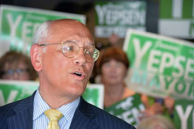 Congressman Paul Tonko, speaks at a news conference to kick off Saratoga Springs Mayor Joanne Yepsen's re-election campaign Thursday May 28, 2015, in Saratoga Springs, NY.  (John Carl D'Annibale / Times Union) Photo: John Carl D'Annibale / 00032042A
