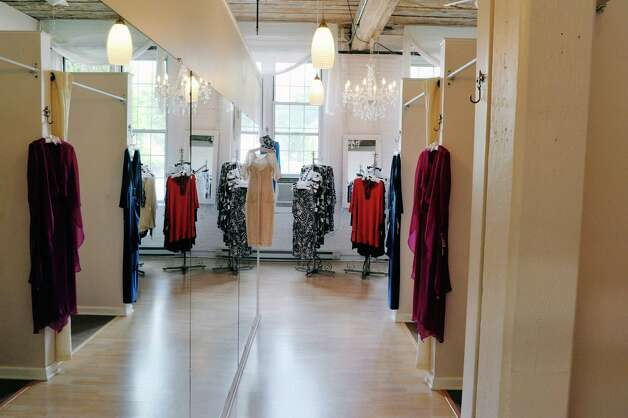 A view of boutique inside the Ursula of Switzerland building on Tuesday, May 26, 2015, in Waterford, N.Y.  The dress manufacturer is housed in an old ribbon factory.      (Paul Buckowski / Times Union) Photo: PAUL BUCKOWSKI / 00031965A