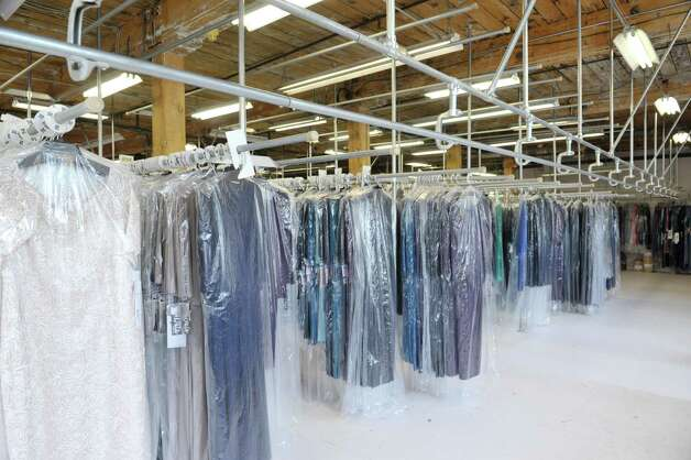 A view of the warehouse floor inside the Ursula of Switzerland building on Tuesday, May 26, 2015, in Waterford, N.Y.  The dress manufacturer is housed in an old ribbon factory.      (Paul Buckowski / Times Union) Photo: PAUL BUCKOWSKI / 00031965A