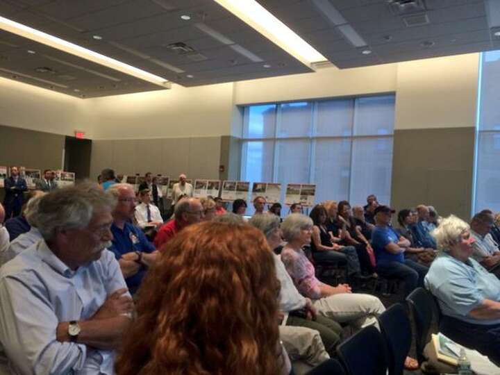 A public hearing for proposed renovations to the Saratoga Race Course drew a full house Thursday, Ma