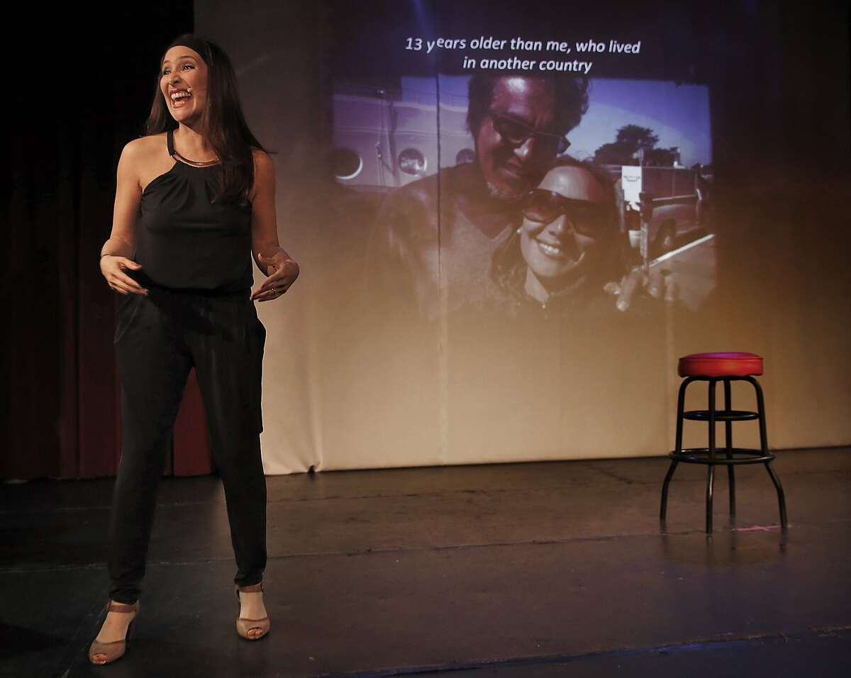 """Sheriff Mirkarimi's wife, Eliana Lopez, in a new solo show, """"What Is the Scandal?, playing at the Mission Cultural Center for Latino Arts in San Francisco, California, on Thursday, May 28, 2015."""