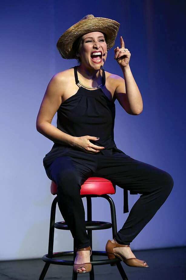 """Sheriff Mirkarimi's wife, Eliana Lopez, in a new solo show, """"What Is the Scandal?, playing at the Mission Cultural Center for Latino Arts in San Francisco, California, on Thursday, May 28, 2015. Photo: Liz Hafalia, The Chronicle"""