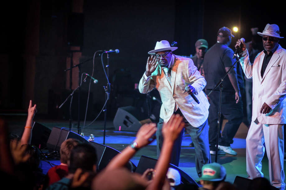 Fans get down with George Clinton & Parliament-Funkadelic on May 28 at the Aztec Theatre. Photo: Isaiah Matthews For The San Antonio Express-News