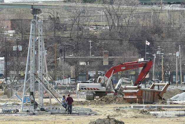 Construction on the new Huck Finn's Playland formerly the Hoffman's Playland is in full swing at the Huck Finn's Warehouse and More headquarters Tuesday afternoon April April 14, 2015 in Albany, N.Y.    (Skip Dickstein/Times Union) Photo: SKIP DICKSTEIN