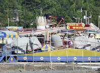 Construction is moving forward at Huck Finn's Playland in Albany on May 29, 2015. Opening day is scheduled for June 17. (Skip Dickstein/Times Union)