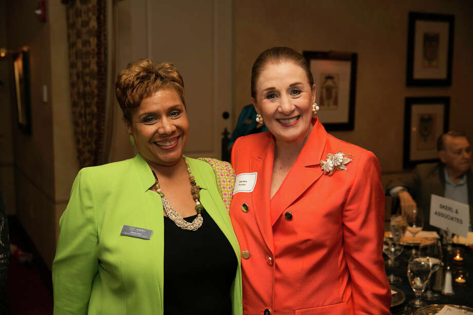 Martha Turner (right) and executive assistant Donna Jones attended the Executive Women International of Houston event. Photo: D. Jones Photography, Owner / © 2015 D. Jones Photography