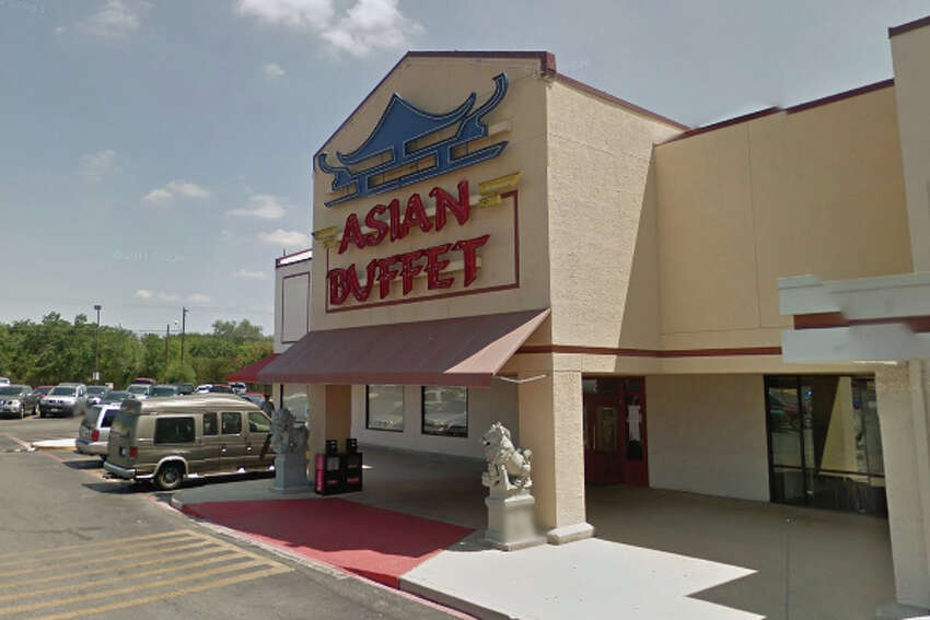 Asian Buffet: 1533 Austin Hwy., San Antonio, TX 78218 Date: 09/20/2017 Score: 72 Highlights: Inspector observed employee soap and rinse dirty scoops in a sink being used for thawing shrimp; mold-like debris seen on back of cold equipment in kitchen; tea containers seen uncovered after brewing; rodent droppings seen by water heater; can opener blade had