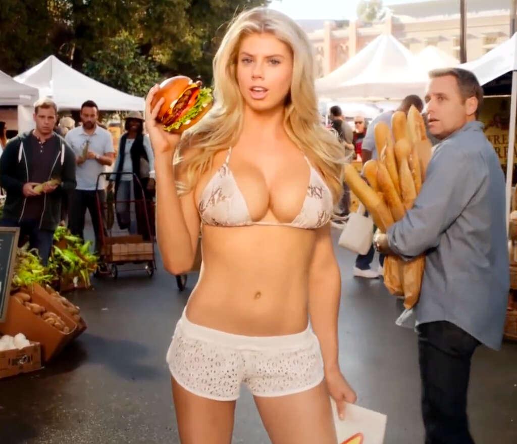 Charlotte McKinney starred in Carl's Jr.'s 2015 Super Bowl commercial.