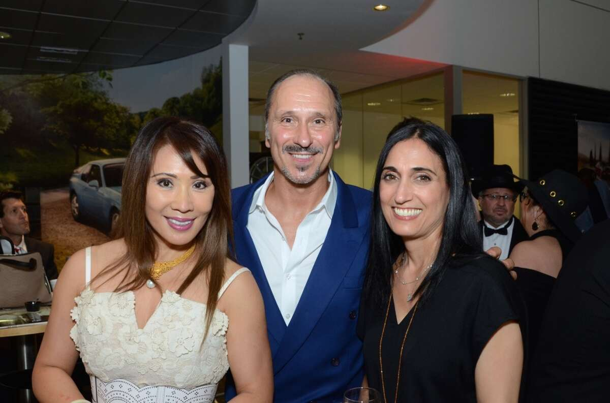 Lisha Hall Allan Rodewald and Valerie Horwitz at the CKW Luxe Magazine Launch Party at Momentum Porsche-Southwest Freeway, May 22, 2015.