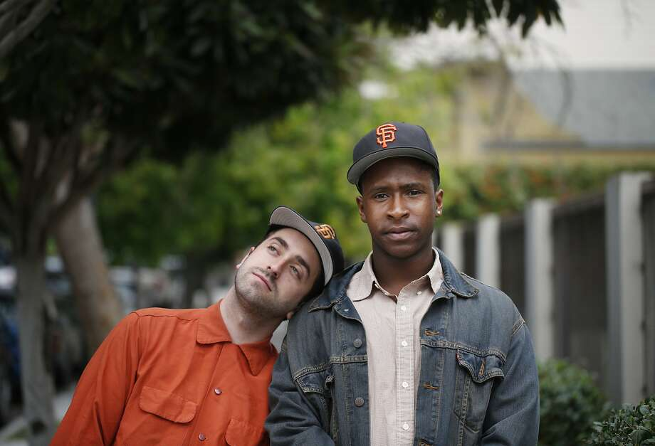 Masterminds behind The Last Black man in San Francisco Joe Talbot, co-writer and director, and Jimmie Fails, co-writer and actor, stand in San Francisco's Precita Park on Friday May 22, 2015 where they first became friends 14 years ago. Photo: Mike Kepka, The Chronicle