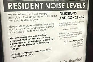 Flyer warning black tenants to keep the noise down called hoax - Photo