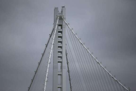 SAN FRANCISCO, CA - MAY 18:  A view of the eastern span of the Oakland-San Francisco Bay Bridge on May 18, 2015 in San Francisco, California. After nearly 12 years of construction and an estimated price tag of $6.4 billion, steel supporting the new eastern span of the Bay Bridge continues to be plagued with problems with a recent discovery that one of the steel rods anchoring the Self-Anchored Suspension (SAS) tower has failed an  integrity test and is believed to have broken due to corrosion.  (Photo by Justin Sullivan/Getty Images)
