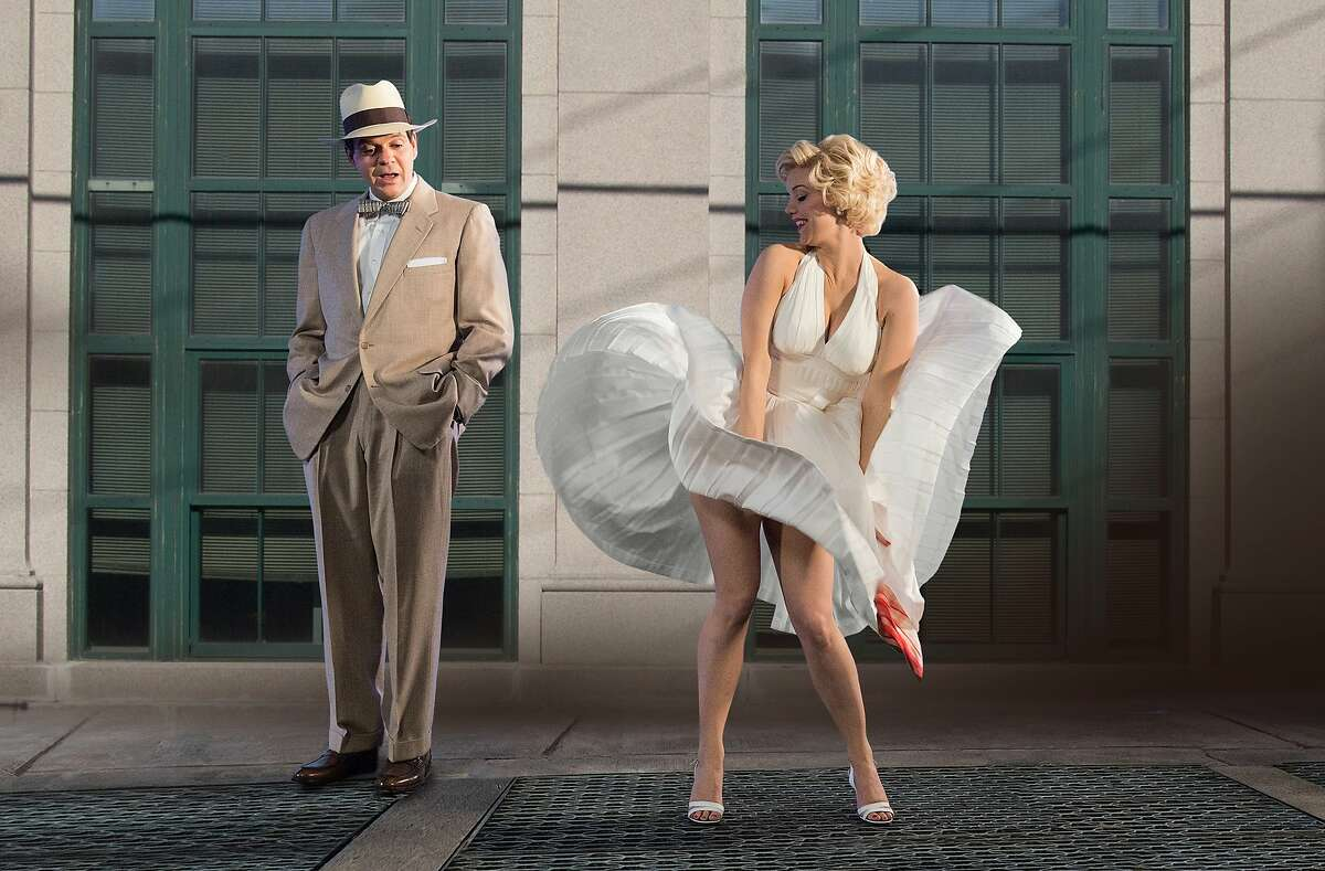 """(L to R) Norn Owen and Kelli Garner (""""Marilyn"""") stars in the all-new Lifetime miniseries, The Secret Life of Marilyn Monroe. Part-One premieres Saturday, May 30, at 8pm ET/PT followed by Part-Two on Sunday, May 31, at 8pm ET/PT on Lifetime. Photo by Ben Mark Holzberg Copyright 2015"""