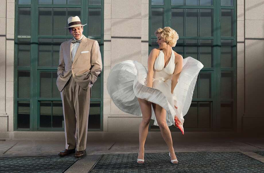 "(L to R) Norn Owen and Kelli Garner (""Marilyn"") stars in the all-new Lifetime miniseries, The Secret Life of Marilyn Monroe. Part-One premieres Saturday, May 30, at 8pm ET/PT followed by Part-Two on Sunday, May 31, at 8pm ET/PT on Lifetime.  Photo: Ben Mark Holzberg, Lifetime"