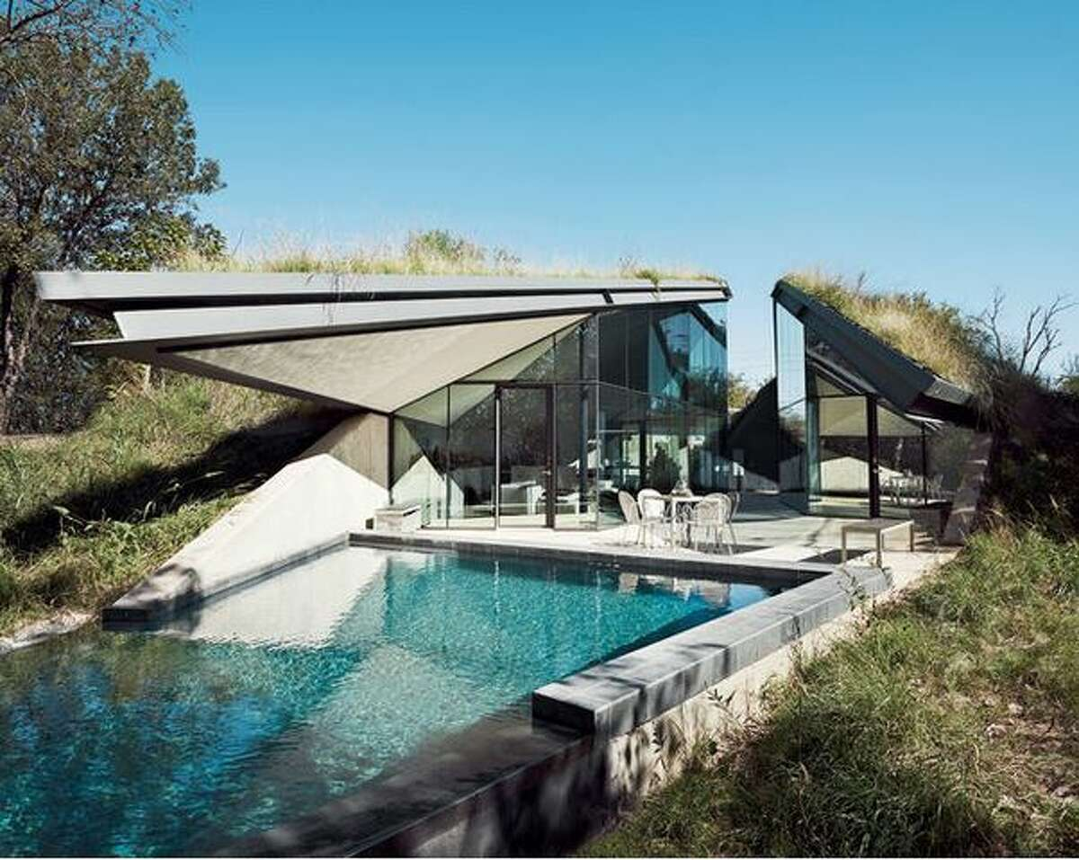 Austin's earth-covered home.