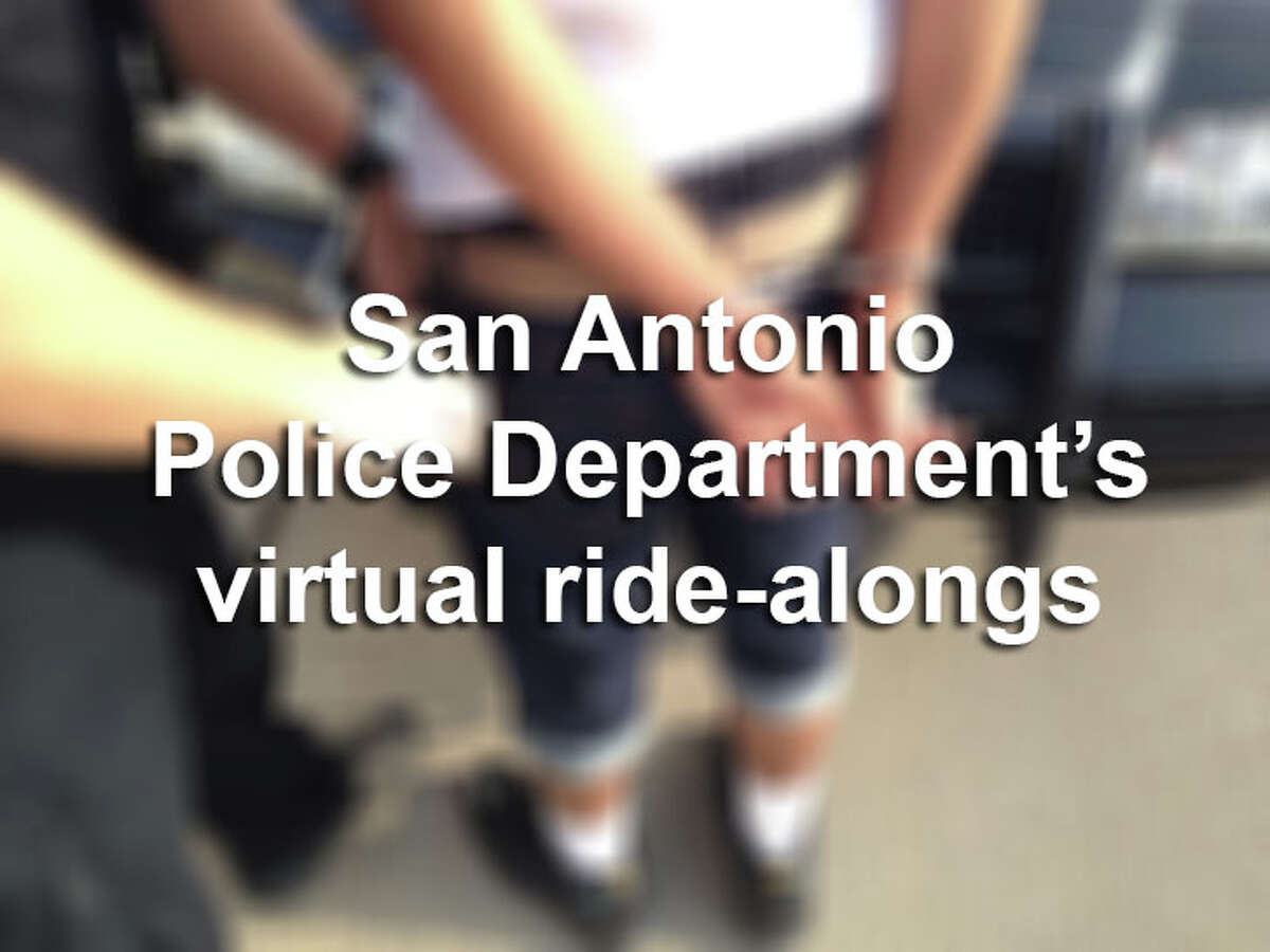 Click through the slideshow to see photos from the San Antonio Police Department's virtual ride-alongs. These photos were shared on Facebook as part of an awareness campaign by the department.