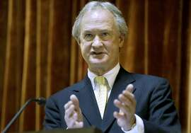FILE - In this Jan. 15, 2014 file photo, then-Rhode Island Gov. Lincoln Chafee delivers his State of the State address in the House chambers of the Statehouse in Providence. A spokeswoman for Chafee confirmed Friday, May 29, 2015, that Chafee plans to announce his candidacy for the Democratic presidential nomination announce his candidacy for the Democratic presidential nomination the following week. (AP Photo/Steven Senne, File)