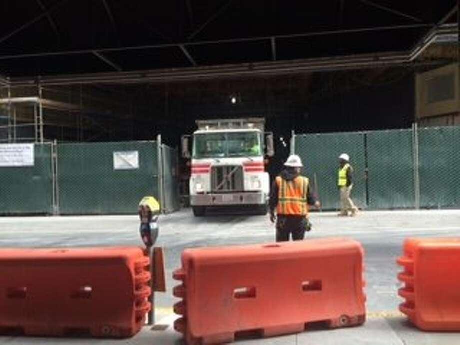 Construction site of the new SFMOMA on May 29, 2015. Photo: Jenna Lyons