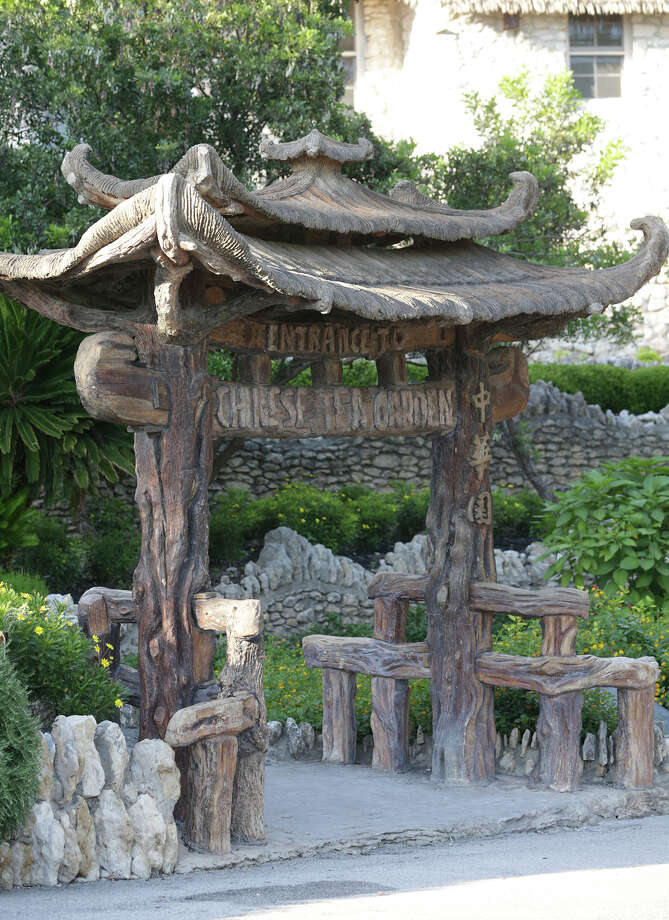 The entrance gate beckons as the Japanese Tea Garden in Brackenridge Park opens for jazz music entertainment on May 1, 2015. Photo: Tom Reel /San Antonio Express-News
