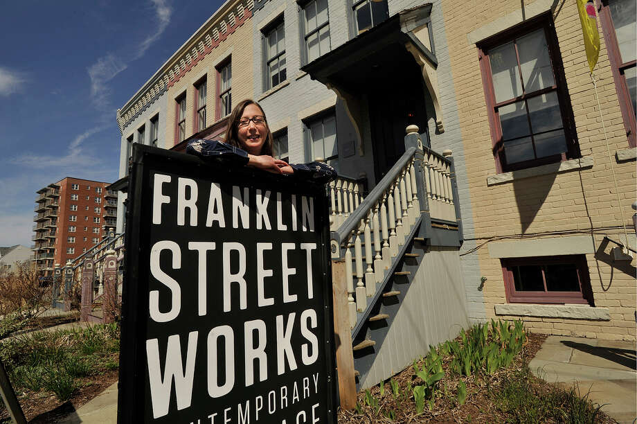 Terri Smith is the creative director at Franklin Street Works in Stamford, Conn. She was photographed on Thursday, April 16, 2015. Photo: Jason Rearick / Stamford Advocate
