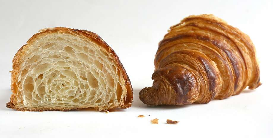 A view of a croissant from  B Patisserie. Photo: Liz Hafalia, The Chronicle