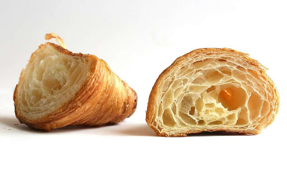 A view of a croissant from Fournée Bakery. Photo: Liz Hafalia, The Chronicle