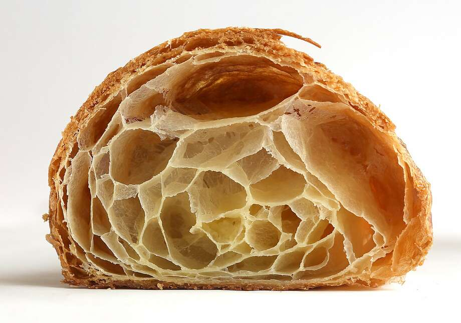 A view of a croissant from Mr. Holmes. Photo: Liz Hafalia, The Chronicle