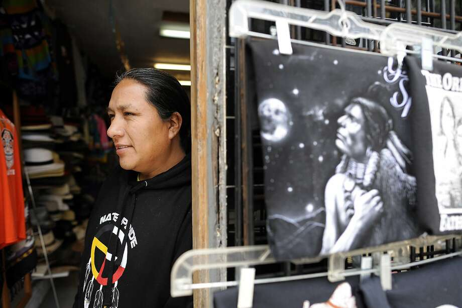 Cesar Oyagata poses for a portrait inside his indigenous arts & crafts, shop, G.G. Tukuy, on 24th St. in San Francisco, CA Friday, May 29, 2015. Photo: Michael Short, Special To The Chronicle