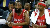 James Harden's wish list for next season's Rockets is a playmaker to ease some of his offensive responsibilities.