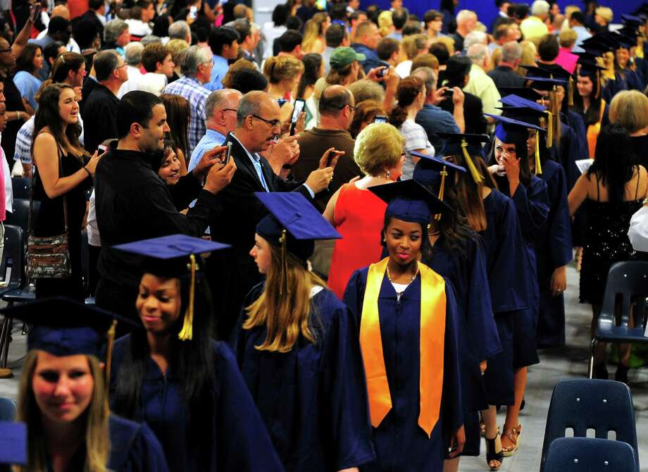 Notre Dame of Fairfield's Class of 2015 Commencement Exercises in Fairfield, Conn., on Friday May 29, 2015. Photo: Christian Abraham / Connecticut Post