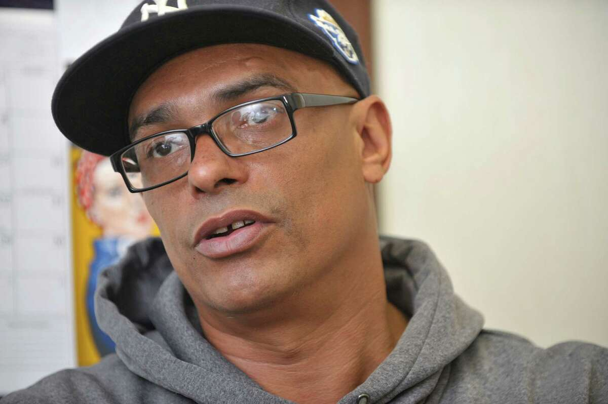 Daniel Bailey a client of Capital District Camino Nuevo outpatient and outpatient methadone program talks about the program during an interview on Wednesday, May 13, 2015, in Albany, N.Y. (Paul Buckowski / Times Union)