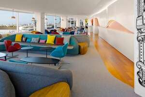 Virgin Atlantic's playful LAX lounge - Photo