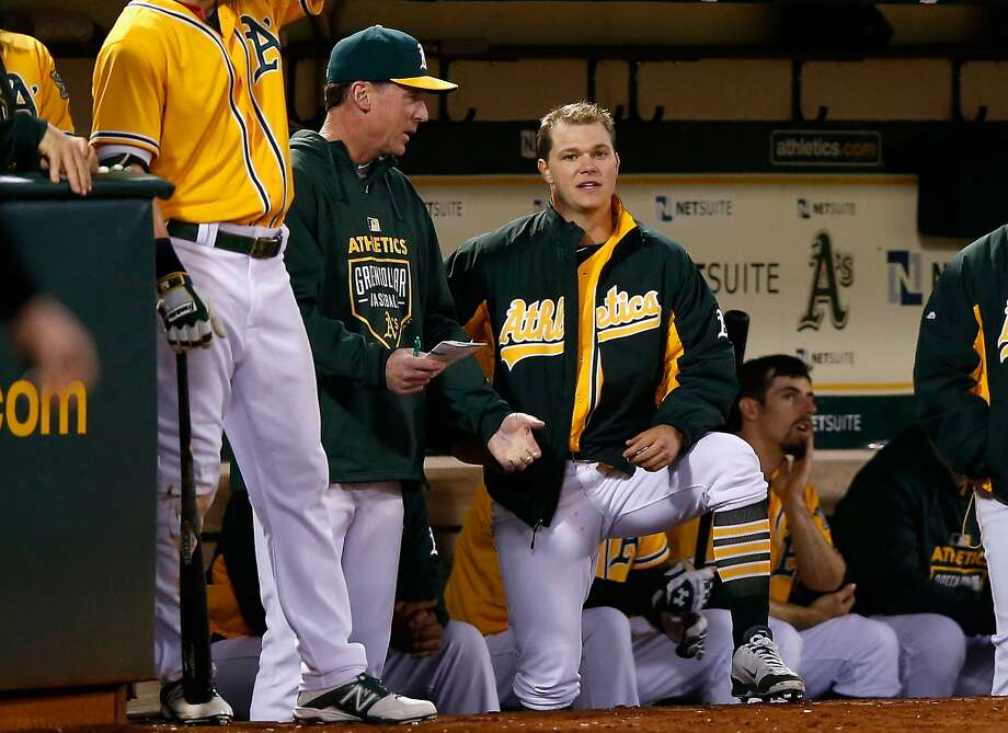 OAKLAND, CA - MAY 29:  Manager Bob Melvin #6 of the Oakland Athletics talks to starting pitcher Sonny Gray #54 in the dugout during the bottom of the eighth inning of their game against the New York Yankees at O.co Coliseum on May 29, 2015 in Oakland, California.  (Photo by Ezra Shaw/Getty Images) Photo: Ezra Shaw, Getty Images