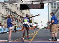 Emily Chebet wins the Freihofer's Run for Women. (Michael Farrell / Times Union)