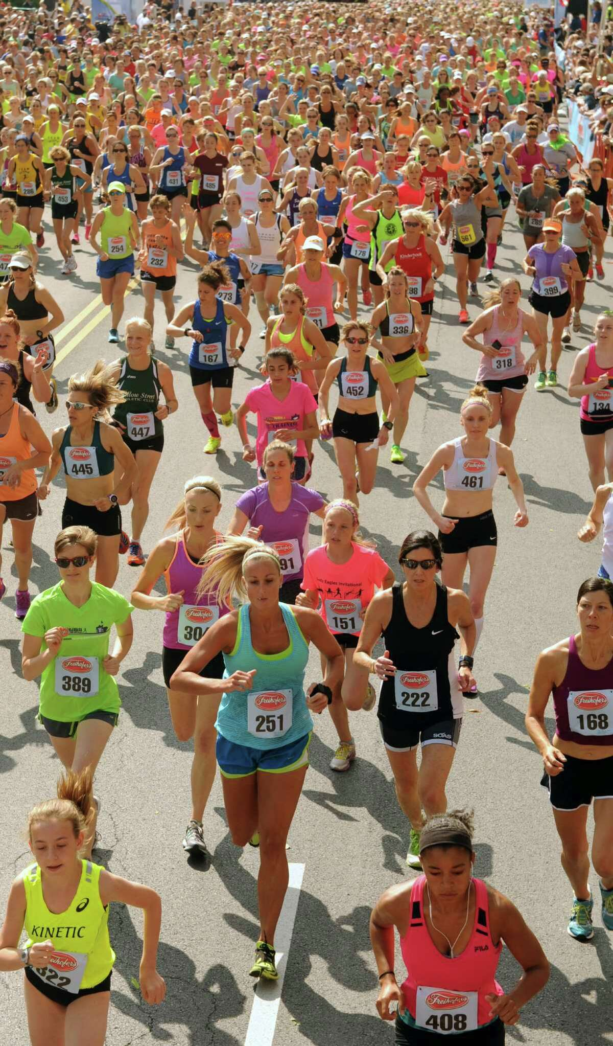 June 4: Freihofer's Run for Women. 5K road race draws thousands of runners to Empire State Plaza.