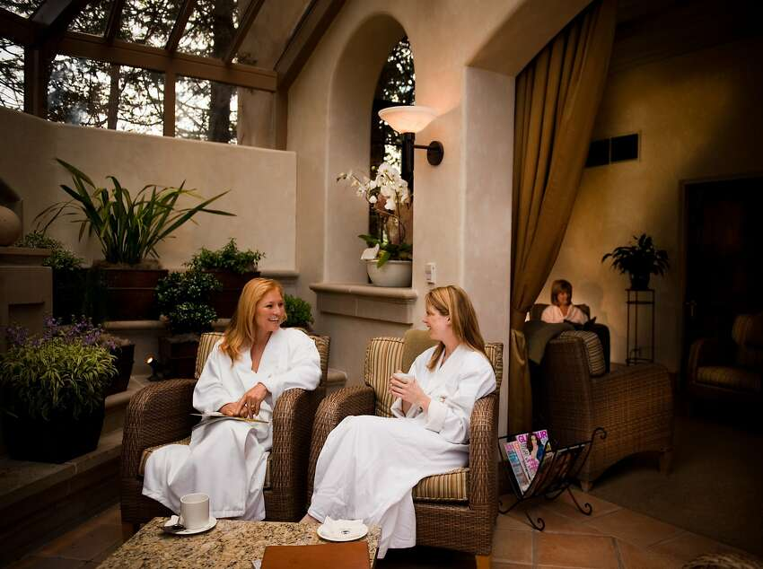 Part of the spa experience includes serene settings for sitting, sipping and savoring some companionship.