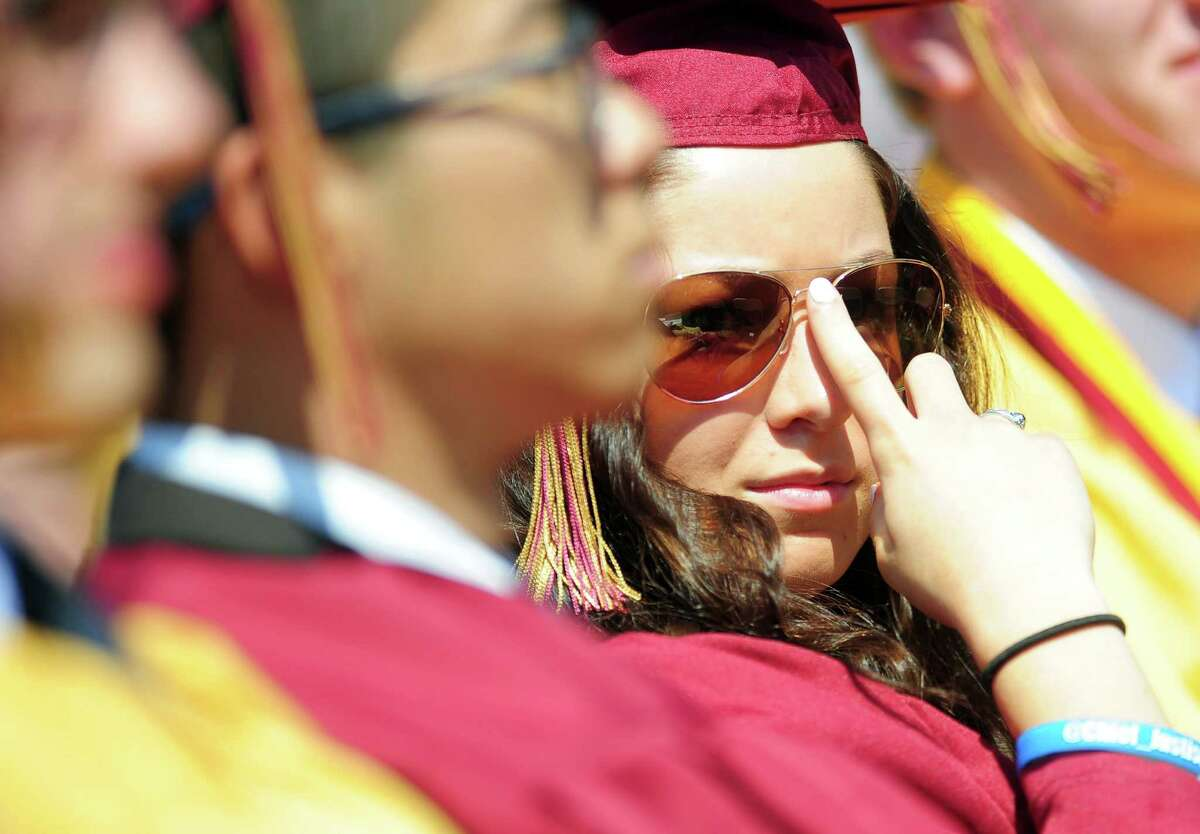 St. Joseph High School holds commencement exercises Saturday, May 30, 2015, at the school in Trumbull, Conn.