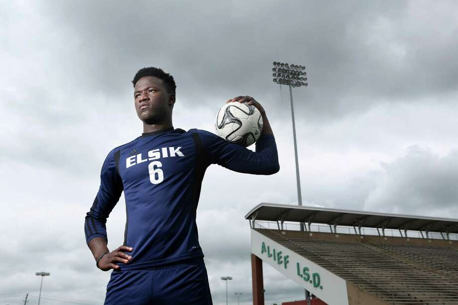 Ali Kromah, an Elsik High School senior, is the Houston Chronicle's All-Greater Houston Boys Soccer Player of the Year on Thursday, May 21, 2015, in Houston. ( Mayra Beltran / Houston Chronicle ) Photo: Mayra Beltran, Staff / © 2015 Houston Chronicle