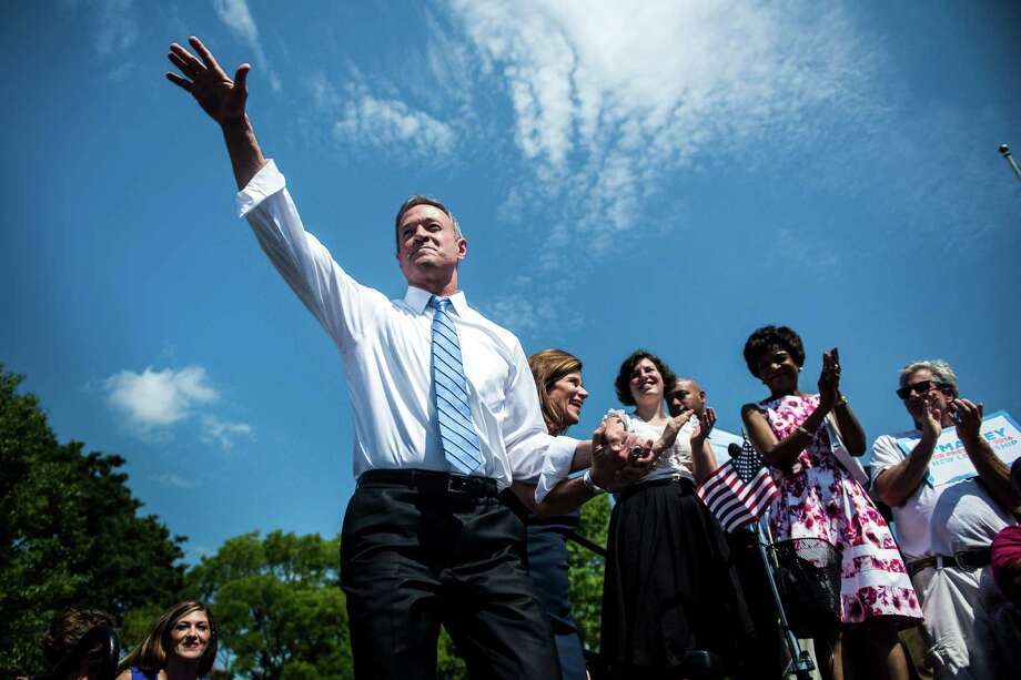 Martin O'Malley, a former governor of Maryland, takes the stage at a campaign kickoff event at Federal Hill Park in Baltimore, May 30, 2015. O'Malley officially joined the race for the Democratic nomination for president on Saturday. (Gabriella Demczuk for The New York Times) Photo: GABRIELLA DEMCZUK, STR / New York Times / NYTNS
