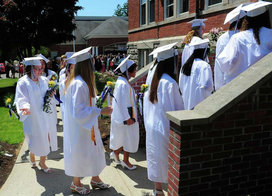 Lauralton Hall's Class of 2015 Commencement Exercises in Milford, Conn., on Saturday May 30, 2015. Photo: Christian Abraham / Connecticut Post