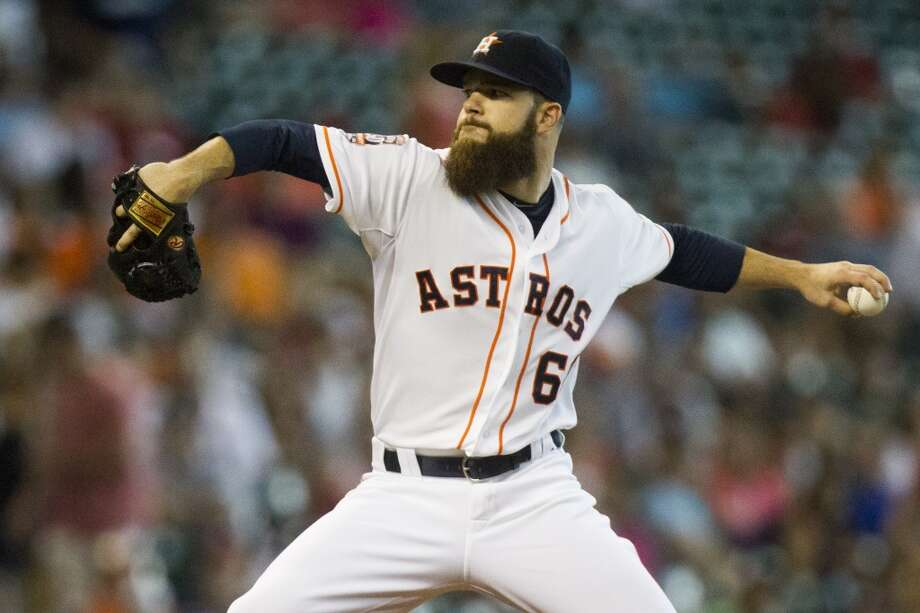 Starting rotation:Cy Young recipient and 20-game winner Dallas Keuchel headlines the Astros' staff and is coming off a spring in which he did not allow a run over 17 Grapefruit League innings. Collin McHugh is back as the  No. 2 starter after posting 19 wins and a 3.89 ERA while logging a career-high 203 2⁄3 innings. Veterans Mike Fiers, Scott Feldman and newcomer Doug Fister fill out the rotation to open the season, although one will be the odd man out once Lance McCullers works his way back from a bout of shoulder soreness that popped up during spring training. McCullers, 22, displayed his electric stuff over 22 starts last season. His continued development will be interesting to watch once he makes his season debut, which could happen by the end of April. Photo: Marie D. De Jesus, Houston Chronicle