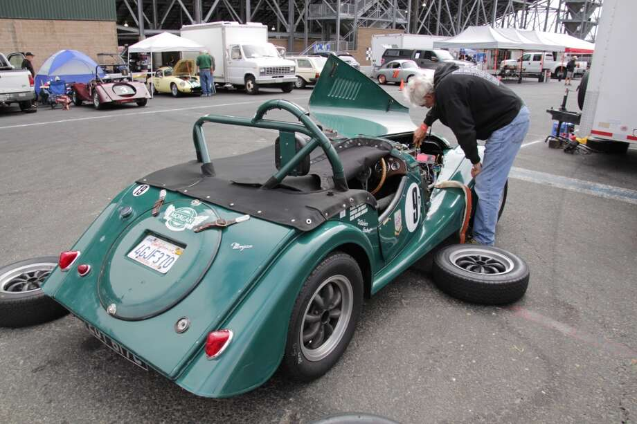 1964 Morgan 4/4 Series 5 competition. Owner: ron Carrico (working on the car); San Diego. (All photos of the Sonoma Historic Motorsports Festival, held this weekend at Sonoma Raceway, by Michael Taylor)