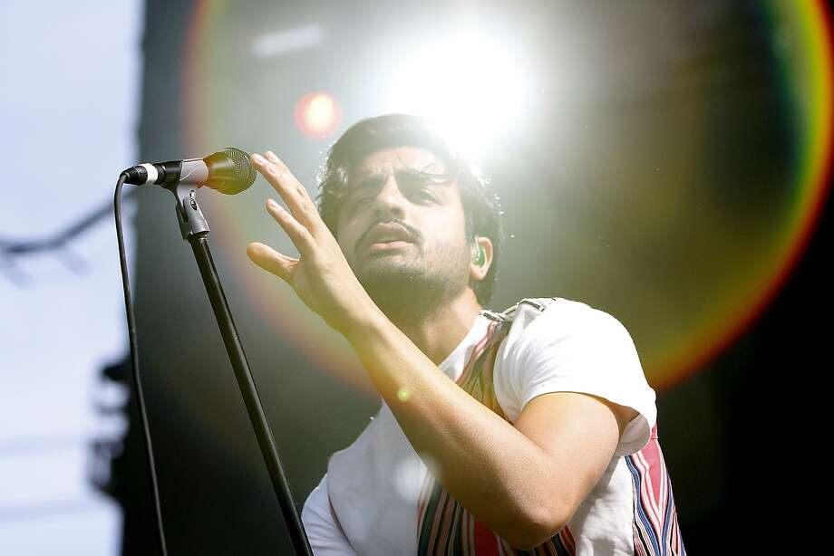 Young the Giant lead singer Sameer Gadhia at BottleRock in Napa, Calif., on Saturday, May 30, 2015. Photo: Sarah Rice, Special To The Chronicle