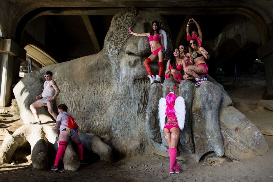 The Fremont Troll no longer captures the essence of Fremont … like the Space Needle and the statue of Lenin, much of old Seattle is no longer ironic. They're fun civic projects from a time … long long ago … Photo: JORDAN STEAD, SEATTLEPI.COM