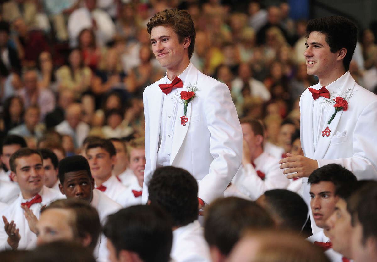 Fairfield Prep Graduation at Fairfield University's Alumni Hall in Fairfield, Conn. on Sunday, May 31, 2015.