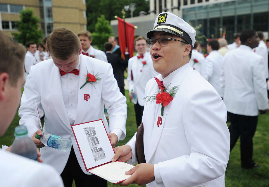 Fairfield Prep Graduation at Fairfield University's Alumni Hall in Fairfield, Conn. on Sunday, May 31, 2015. Photo: Brian A. Pounds / Connecticut Post