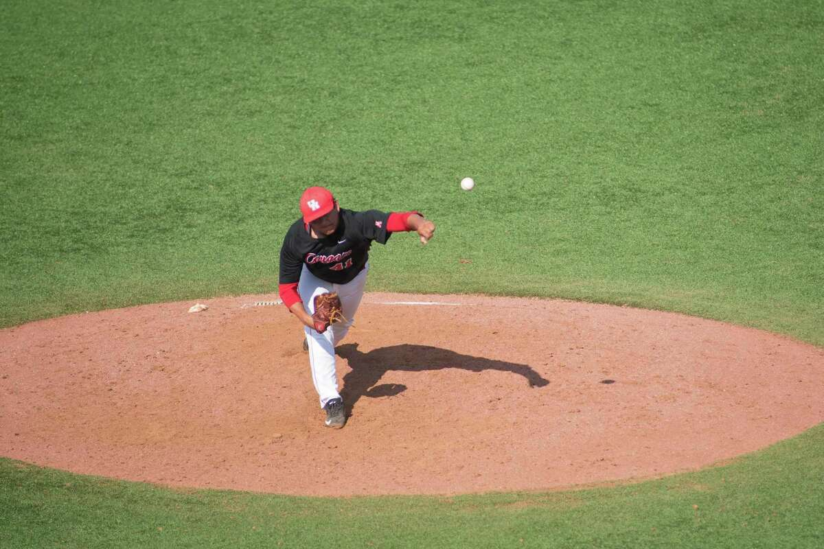 Houston pitcher Seth Romero (41) during the ninth inning of the first winner's bracket game game on May 31, 2015 at Cougar field at University of Houston.
