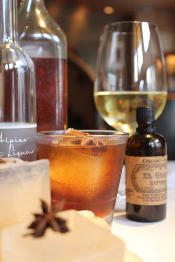 The Saving Private Ryan cocktail, with smoked ice at Montrio Bistro. Photo: Mark C. Anderson