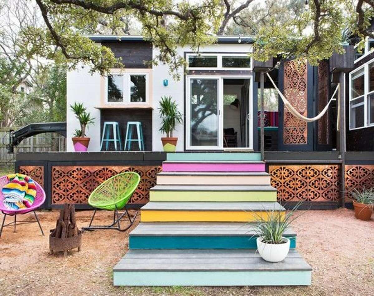 Austin-based interior designer Kim Lewis' colorful project.